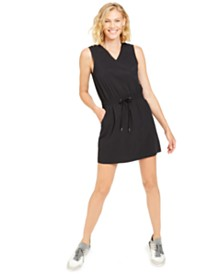 Ideology Drawstring V-Neck Dress, Created for Macy's