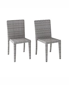 Distribution Brisbane Rattan Wicker Dining Chairs, Set of 2