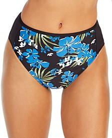 Floral-Printed High-Waist Bikini Bottoms