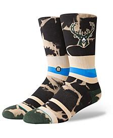 Milwaukee Bucks Acid Wash Crew Socks