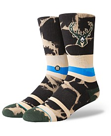 Stance Milwaukee Bucks Acid Wash Crew Socks