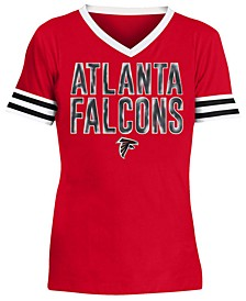 Big Girls Atlanta Falcons Sequin Stripe T-Shirt