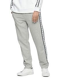 Men's Logo-Stripe Fleece Sweatpants