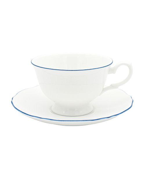 Twig New York Amelie Royal Blue Rim Cup & Saucer