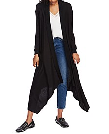 Open-Front Maxi Cardigan Sweater