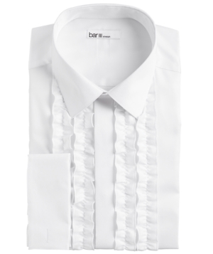 Vintage Shirts – Mens – Retro Shirts Bar Iii Mens Slim-Fit Performance Stretch White Ruffle French Cuff Tuxedo Shirt Created For Macys $19.93 AT vintagedancer.com