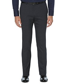 Men's Plaid Washable Slim Suit Pants