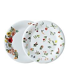 "Language of Flowers 8.5"" Salad Plates - Set of 2"
