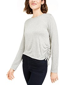 Juniors' Side-Ruched Top
