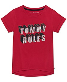 Big Girls Cotton Tommy Rules T-Shirt
