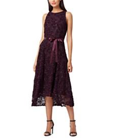 Tahari ASL Sleeveless Embellished Dress