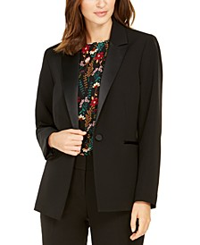 One-Button Tuxedo Jacket