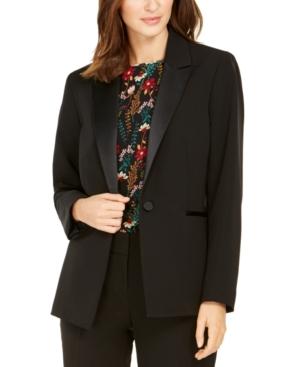 Vintage 1920s Dresses – Where to Buy Nine West One-Button Tuxedo Jacket $114.99 AT vintagedancer.com