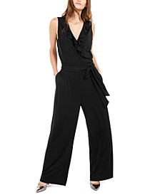 Petite Ruffled Jumpsuit, Created For Macy's