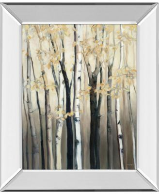 "Golden Birch I by Julia Purinton Mirror Framed Print Wall Art - 22"" x 26"""