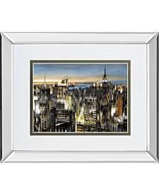 "Big City by Alan Lambert Mirror Framed Print Wall Art - 34"" x 40"""