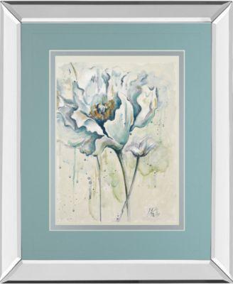 "Fresh Poppies I by Patricia Pinto Mirror Framed Print Wall Art - 34"" x 40"""