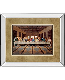 "Last Supper Mirror Framed Print Wall Art - 34"" x 40"""