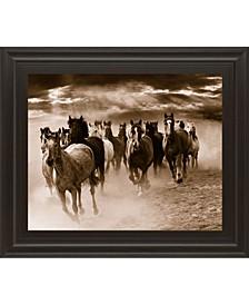 "Running Horses by Monte Naglar Framed Photo Print Wall Art - 22"" x 26"""