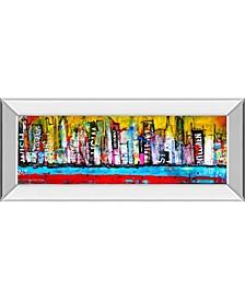 """Skyline by Erin Ashley Mirror Framed Print Wall Art - 18"""" x 42"""""""