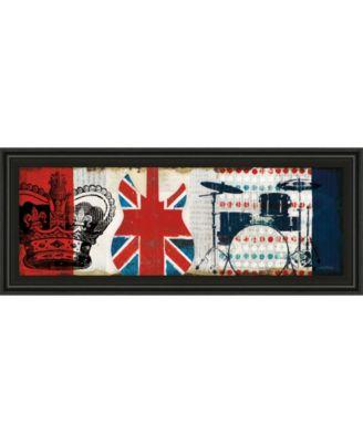 "British Invasion Il by Mo Mullan Framed Print Wall Art - 18"" x 42"""