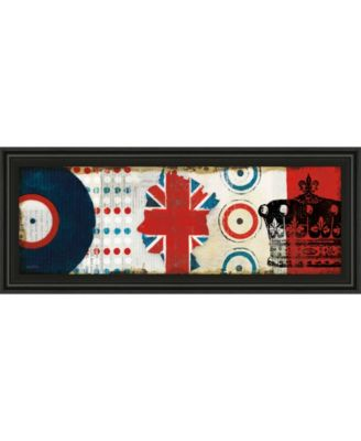"British Invasion I by Mo Mullan Framed Print Wall Art - 18"" x 42"""