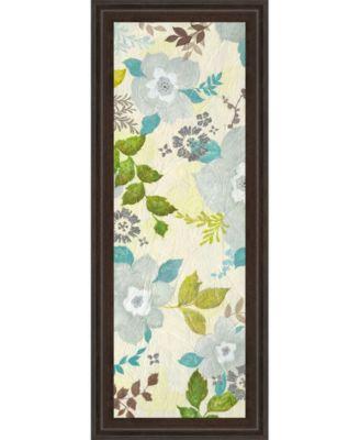 "Fragrant Garden I by Tava Studios Framed Print Wall Art - 18"" x 42"""