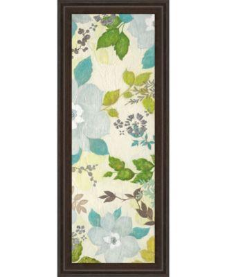 "Fragrant Garden Il by Tava Studios Framed Print Wall Art - 18"" x 42"""