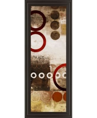 """Red Liberated Panel I by Michael Marcon Print Framed Wall Art - 18"""" x 42"""""""