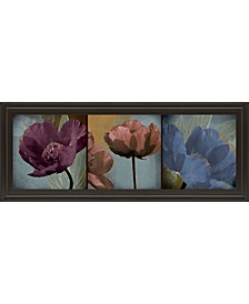 "Blooming Jewels by Robert Lacie Framed Print Wall Art - 18"" x 42"""