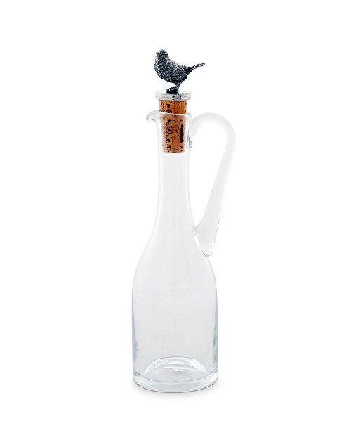 Vagabond House Hand-Blown 5 Oz Cruet Glass Bottle with Cork Stopper