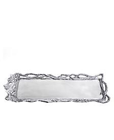 Designs Aluminum Grape Open Vine Oblong Tray