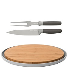 Leo Collection 3-Pc. Carving and Cutting Board Set