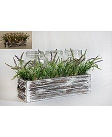 Wood With Greenery Centerpiece