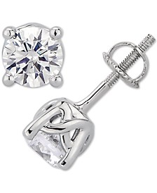 GIA Certified Diamond Stud Earrings (1-1/2 ct. t.w.) Stud Earrings in 14k White Gold
