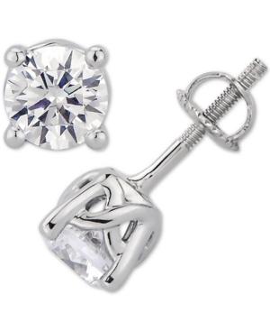 Gia Certified Diamond Stud Earrings (1-1/2 ct. t.w.) Stud Earrings in 14k White Gold