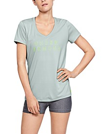 Women's UA Tech Printed-Logo T-Shirt