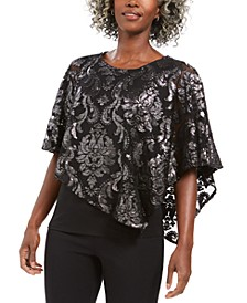 Asymmetrical Burnout Popover Top, Created For Macy's