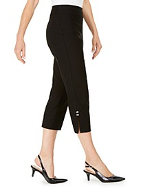 Embellished Side-Slit Capri Pants, Created For Macy's