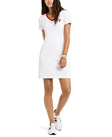 V-Neck Cotton Sheath Dress, Created For Macy's