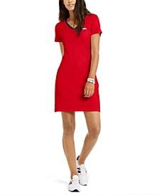V-Neck Cotton Sheath Dress, Created For Macy's