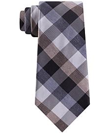 Men's Slim Texured Buffalo Check Tie