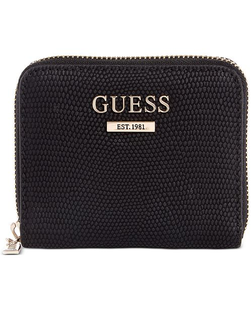 GUESS Maxxe Small Zip Around Wallet & Reviews