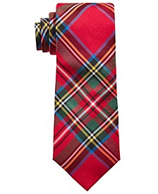 Big Boys Classic Red Tartan Silk Tie