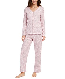 Printed Cotton Pajamas Set, Created for Macy's