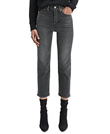 Women's Cropped Button-Fly Jeans