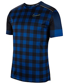 Men's Miler Dri-FIT Plaid Running Top