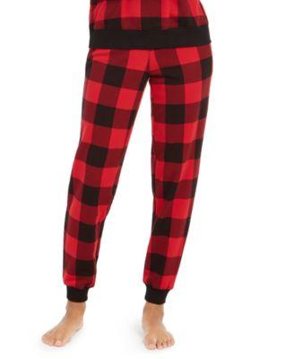 Calvin Klein Women's Modern Cotton Buffalo Check Sleep Jogger Pants