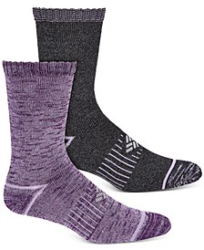 Women's 2-Pk. Moisture-Control Space-Dyed Crew Socks