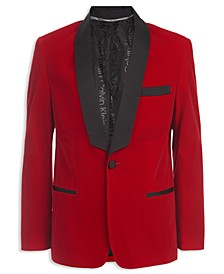 Big Boys Classic-Fit Velvet Shawl Lapel Suit Jacket
